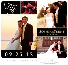 28 Best Wedding Thank You Photo Cards Magnets Images On Pinterest