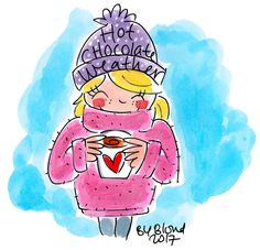 Hot Chocolate Weather by Blond-Amsterdam Blond Amsterdam, Amsterdam Winter, Amsterdam Art, Amsterdam Christmas, Christmas Art, Vintage Christmas, Christmas Villages, Christmas Posters, Winter