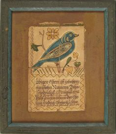 Schuylkill County, Pennsylvania ink and watercolor fraktur dated 1815