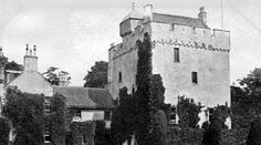 Tour Scotland Photographs: Old photograph of Kames Castle near Port Bannatyne, Isle of Bute, Scotland. Originally the seat of the Bannatyne family, Kames is one of the oldest continuously inhabited Scottish houses.