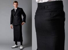Skirt suit by Thom Browne. I do love men in kilts. Not sure how I feel about this one though.