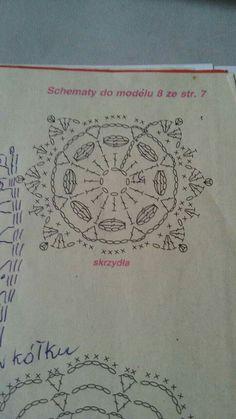 Jeszcze o aniołkach - Her Crochet Crochet Squares, Crochet Granny, Irish Crochet, Crochet Motif, Crochet Doilies, Crochet Flowers, Crochet Stitches, Knit Crochet, Crochet Patterns
