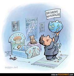 Exprimiendo los recursos naturales.
