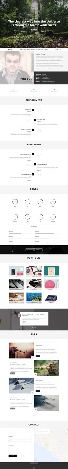 Identity is Premium full Responsive WordPress Resume Theme One - wordpress resume theme