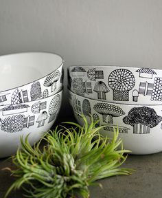 set of four finel bowls! by oh, albatross, via Flickr