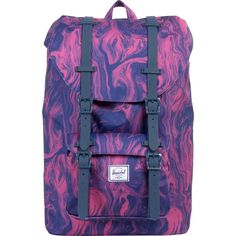 Herschel Supply Co. Little America Mid-Volume Laptop Backpack (Red Marble)