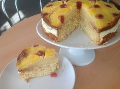 Pineapple upside-down piña colada cake