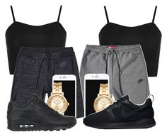 """Best Friends✈"" by kitty-ma ❤ liked on Polyvore featuring WearAll, NIKE and Michael Kors"