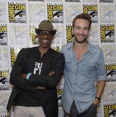 Orlando Jones and Tom Mison from Sleepy Hollow.