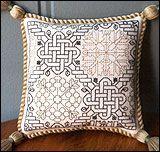 Celtic knot garden designed by Nostalgic Needle