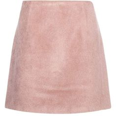 Acne Studios Alpaca-Blend Skirt (915 BRL) ❤ liked on Polyvore featuring skirts, bottoms, saias, faldas, pink, pink skirt and acne studios