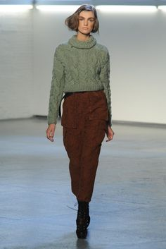 lots of wool trousers at NYFW, this one Rodarte