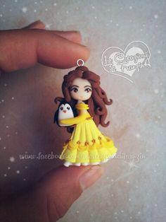 #belle #disney #beauty #beast #penguin #dress #gold #creazioni #franzin #fimo #polymer #clay