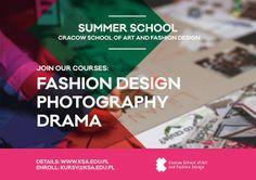 Summer School: Fashion Design, Photography, Drama -> http://www.ksa.edu.pl/kursy-warsztaty-szkolenia-w-krakowskich-szkolach-artystycznych #KSAkrakow #Fashionschool