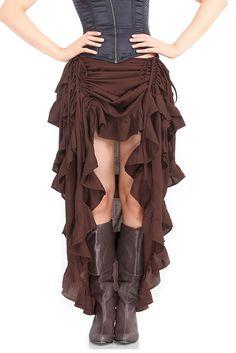 Steampunk rok bruin