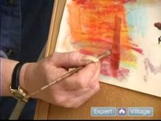 Getting Started With Pastel Art : Watering Blending Tips for Chalk Pastels - YouTube