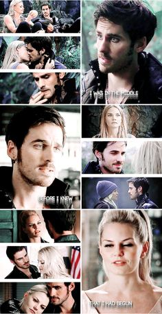 """Can you pinpoint the exact moment you first fell in love?"" ""I cannot fix on the hour, or the spot, or the look, or the words, which laid the foundation. It is too long ago..."" #ouat"