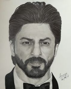 Shahrukh Khan Family, Shahrukh Khan And Kajol, Pencil Sketch Portrait, Portrait Sketches, Pencil Drawings, Art Drawings, Batman Drawing, Marvel Drawings, Celebrity Babies