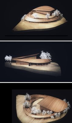 Competition Entry: NOA's Proposal for Dalseong Citizen's Gymnasium,Models. Image © Nomad Office Architects