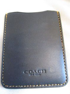 ae4022a237 COACH ~ Black Leather Card Holder Pouch 3