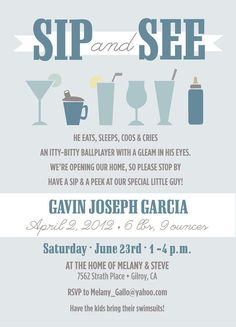 Baby Sip and See Invitations