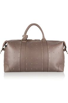 Eddie Harrop The Voyager studded textured-leather weekend bag   NET-A-PORTER