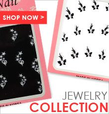 Our large selection of nail jewelry and nail art decals provide that extra sparkle to your nails without any hassle or mess and without breaking the bank. Nail Jewelry, Nail Art Stickers, Black N White, You Nailed It, Jewelry Collection, Decals, Nails, Finger Nails, Tags