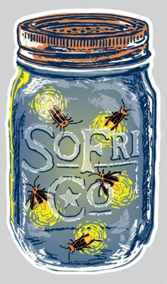Lightning Bug Decal – Southern Fried Cotton
