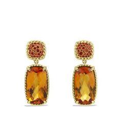 David Yurman ~ Chatelaine Drop Earrings in Gold