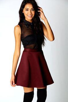Jess Skater Skirt  Boohoo.com €15