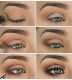 50 perfekte Make-up-Tutorials für grüne Augen 50 makeup tutorials for green eyes -Simple Pretty Eye Shadow Tutorial – amazing green eye makeup tutorials for work for prom for weddings for every day easy step by step diy guide for beautiful natural look- t Eyeshadow Tutorial For Beginners, Makeup For Beginners, Beginner Makeup Tutorial, Beginner Eyeshadow, Makeup Tutorial Step By Step, Eye Makeup Steps, Simple Eye Makeup, Natural Eye Makeup Step By Step, Simple Makeup Tutorial