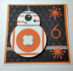 May the force be with you! by jackaroojrt Cards and Paper Crafts at Split - Star Wars - Ideas of Star Wars - May the force be with you! by jackaroojrt Cards and Paper Crafts at Splitcoaststampers Star Wars Bb8, Star Wars Kids, Baby Boy Cards Handmade, Handmade Birthday Cards, Carte Star Wars, Birthday Cards For Boys, Birthday Kids, Happy Birthday, Punch Art Cards