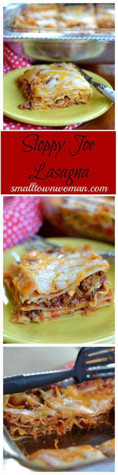 Do you like sloppy joes? Do you like lasagna? Then you are going to love my Sloppy Joe Lasagna. Two great dishes brought together to tantalize even the most picky palate! Beef Recipes, Italian Recipes, Cooking Recipes, Budget Recipes, Recipies, Lasagna Recipes, Casserole Recipes, Pasta Recipes, Hamburger Dishes