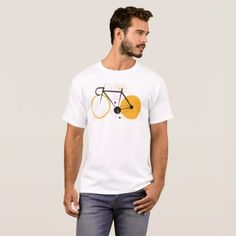 #Geometric bicycle T-Shirt - #cycling #gifts