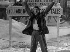 """It's A Wonderful Life. """"I love you, Bedford Falls! James Stewart is such an amazing actor, and this film is perfection. Everyone should watch it once. Old Movies, Great Movies, Awesome Movies, Vintage Movies, Indie Movies, Wonderful Life Movie, It's Wonderful, Film Mythique, Bedford Falls"""