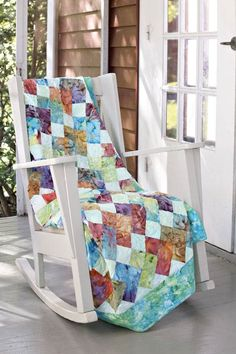 assorted batiks in this colorful quilt