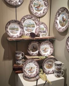 We are ready for Fall themed tablescapes here in the Portmeirion showroom! Our Spode Woodland display is perfect for this time of year  #tabletopshow2016 #spode