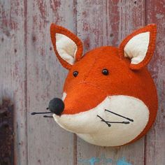felt fox head wall hanging by armstrong ward | notonthehighstreet.com