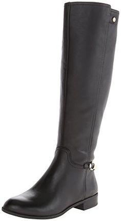 AK Anne Klein Women's Kacey Leather Riding Boot, Black, 7.5 M US. http://wholesalebootsnshoes.com/2014/10/09/ak-anne-klein-womens-kacey-leather-riding-boot-black-7-5-m-us/