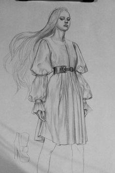 Fashion illustration - stylish fashion drawing // Mei Meizhen