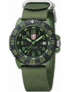 Luminox 3040 Series Black Dial Nylon Strap Mens Watch 3042 BY Luminox Army Watches, Seiko Watches, Black Watches, Best Watches For Men, Cool Watches, Tactical Watch, Tactical Gear, Citizen Watch, Navy Seals