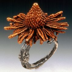 flower ring by herbanelements on Etsy, $298.00