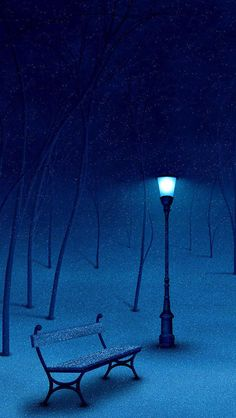 If you listen closely, you can hear the snow accumulating ........ I love a silent, snowy, winter night