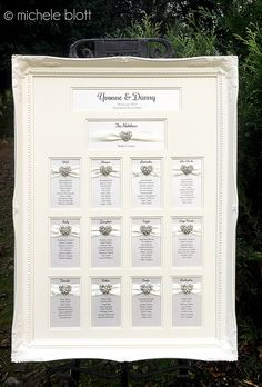 Northern passages wedding tables wedding and table plans stunning multi aperture ornate framed wedding table seating plan adorned with intricate diamante and crystal love junglespirit Choice Image
