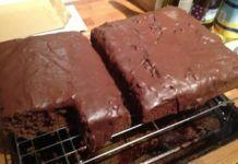 Rich Chocolate Tray Bake (16 syns for the lot ! )