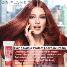 Lindungi rambut berwarna kamu dengan Hair X Colour Protect Leave-In Cream yang bisa menjaga warna rambut bertahan lama dan melindungnya dari unsur radikal bebas