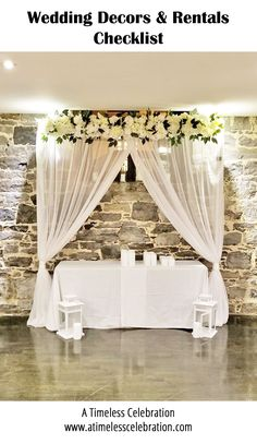 Ceremony Signs, Ceremony Arch, Wedding Ceremony Decorations, Sweetheart Table Backdrop, Dance Floor Lighting, Candle Centerpieces, Wedding Designs, Montreal, Wedding Stuff