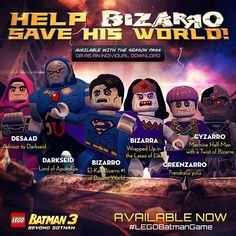 Keep it weird with the Bizarro World! Lego Batman Games, Lego Dc, Lego Marvel, Half Man, Gotham, Weird, Comic Book, Video Games, Posters
