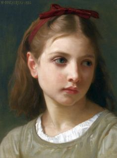 William Adolphe Bouguereau (French painter, teacher, frescoist & draftsman) 1825 - 1905 Une Petite Fille, 1886 oil on canvas 14 x 10 3/4 in.