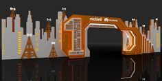 Mobinil & Huawei event on Behance Entrance Design, Gate Design, Concert Stage Design, Portal, Corporate Event Design, Exhibition Stand Design, Principles Of Design, Event Themes, Event Lighting